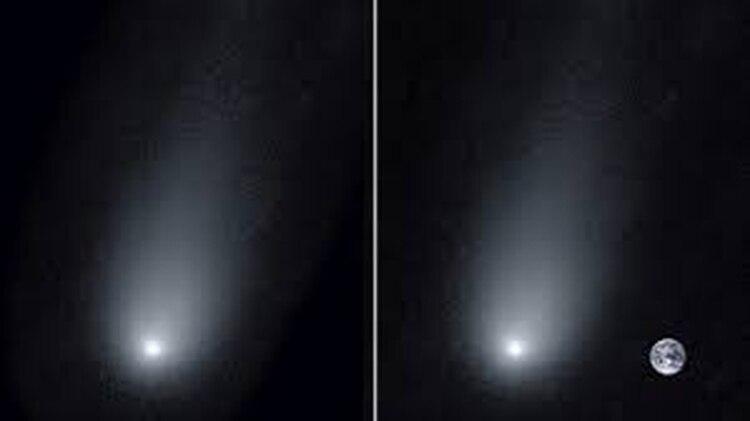 Las dos imágenes publicadas por los astrónomos este domingo (Universidad de Yale)