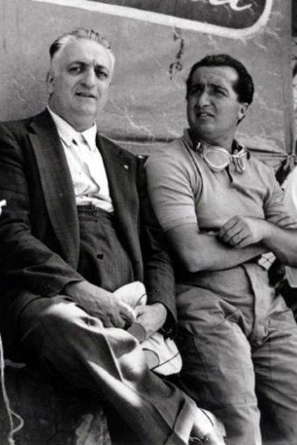 Don Enzo y su hijo Alfredino, cuando compartían el tiempo y el trabajo en la Scudería.