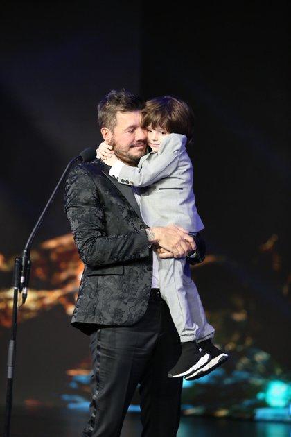 Marcelo Tinelli junto a su hijo menor, Lorenzo