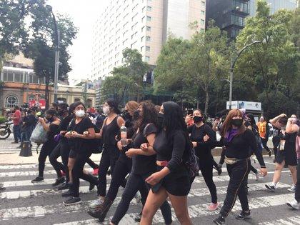 Marcha feminista por el asesinato de Mari Chuy, Ciudad de México (Foto: Alicia Mireles / Infobae)