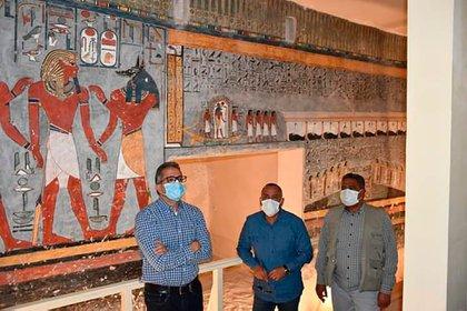 La tumba de Ramses I tiene una extensión de 29 metros de largo
