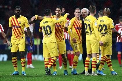 El Barcelona es el nuevo líder de La Liga junto al Real Madrid (Reuters)