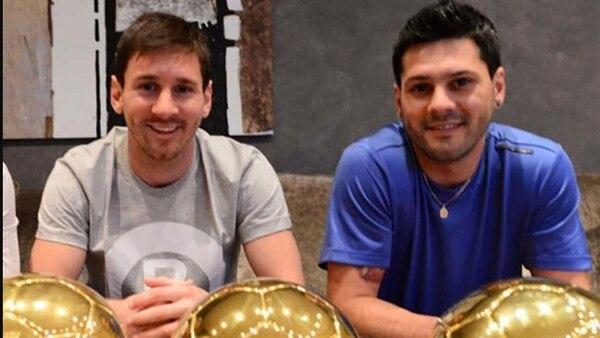 Matías Messi junto a su hermano, el mejor jugador del mundo