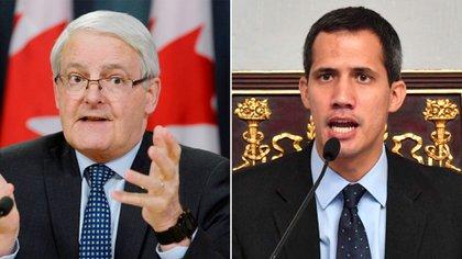 Marc Garneau, ministro de Exteriores de Canadá, mantuvo una charla con Juan Guaidó