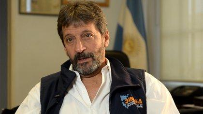 Carlos Russo, durante una entrevista con Infobae