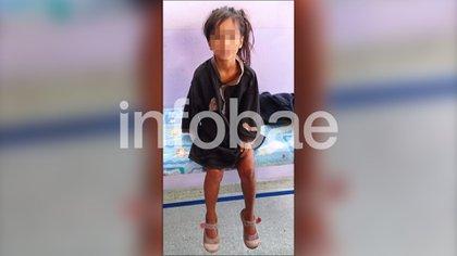 La imagen de Maia, después de haber sido encontrada en buen estado de salud por la policía