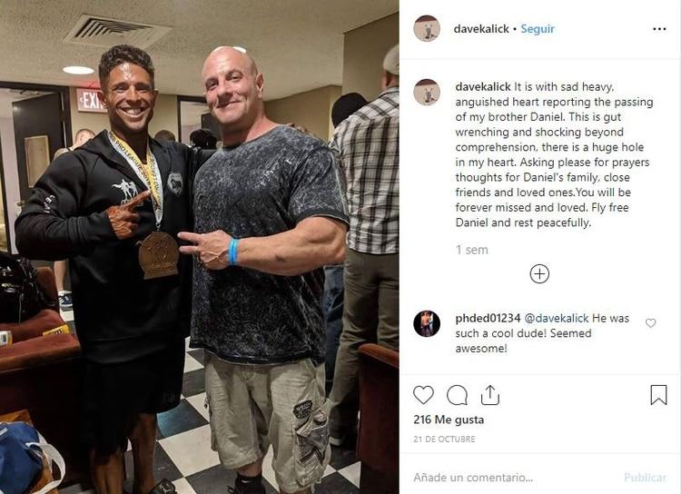 Su entrenador anunció su muerte a través de las redes sociales