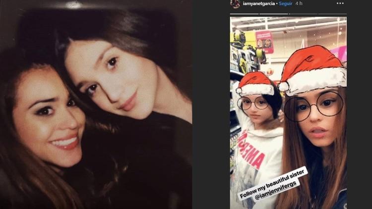 Yanet García promovió la red social de su pequeña hermana (Foto: Instagram iamyanetgarcia, iamjennifergs)