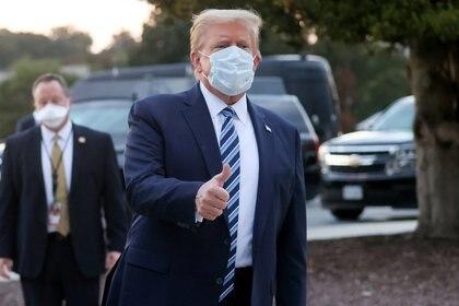 """Trump aseguró este lunes que se siente """"muy bien"""" (REUTERS/Jonathan Ernst)"""