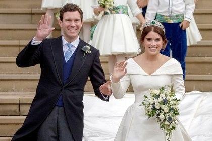 La princesa Eugenia y Jack Brooksbank celebraron su segundo cumpleaños en octubre (Foto: Steve Parsons / REUTERS)