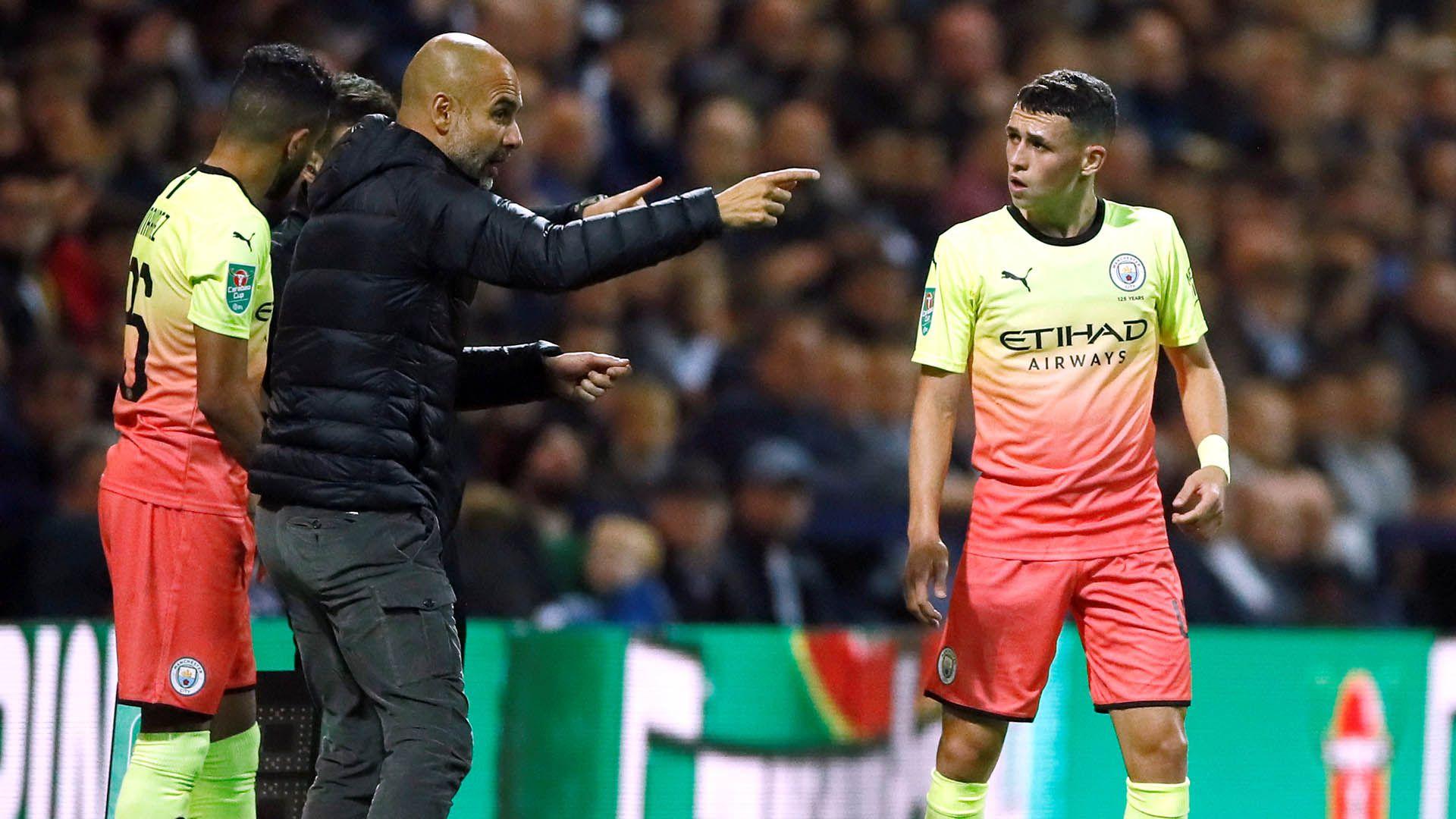 Pep Guardiola avisó que el único jugador que no se vende en el Manchester City es Phil Foden (Reuters)