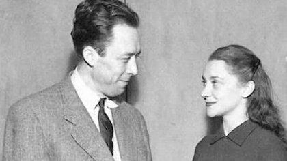 Albert Camus y Maria Casares