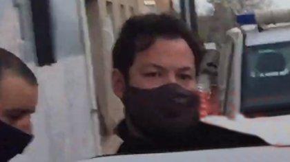 Romero cuando fue detenido en Uruguay