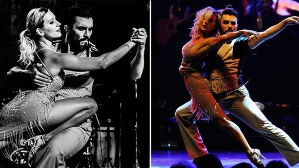 Noelia Marzol bailando con Fernando Bertona. Durante este año, realizó una gira con sus compañeros y en el verano se incorpora definitivamente como una de las figuras del show
