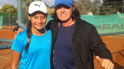 Andanin y Guillermo durante un entrenamiento