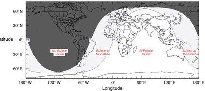 El mapa de la NASA que explica quién podrá observar la luna de fresa (NASA)
