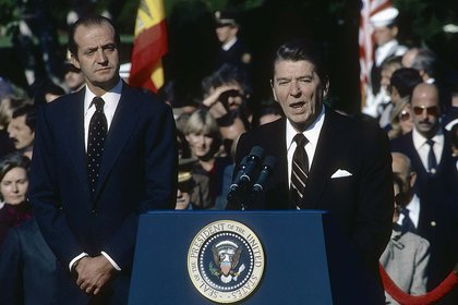 La reelección de Ronald Reagan en 1984 fue la primera elección que predijo Lichtman (Photo by Mark Reinstein/Shutterstock )