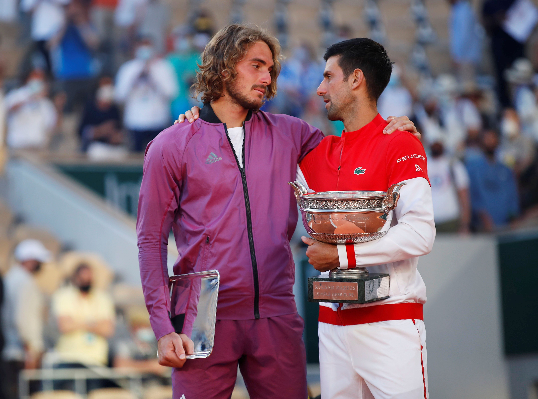Novak Djokovic le dedicó unas palabras a Stefanos Tsitsipas (REUTERS/Gonzalo Fuentes)