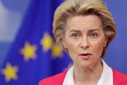 La presidenta de la Comisión Europea Ursula von der Leyen (Stephanie Lecocq vía REUTERS)