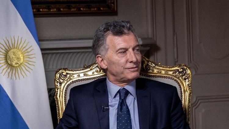 Mauricio Macri fue entrevistado por Viviana Canosa (Foto: Bloomberg)