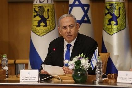 """Benjamin Netanyahu aseguró que no permitirá """"protestas violentas"""" en Jerusalén (Amit Shabi/Pool via REUTERS)"""