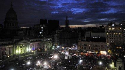 Manifestación contra la violencia de género en Argentina (Télam)