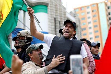 Camacho lideró las protestas en las calles contra el fraude electoral.