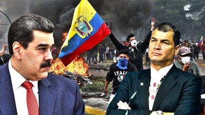 Nicolás Maduro y Rafael Correa.