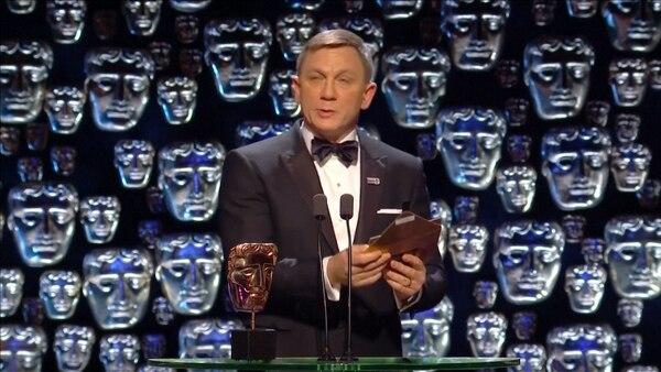 Craig, durante la entrega de los premios Bafta