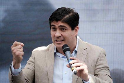 En la imagen, el presidente de Costa Rica, Carlos Alvarado. EFE/Jeffrey Arguedas/Archivo