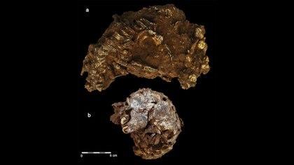 """Esta imagen generada por computadora publicada el 4 de mayo de 2021 por la CNRS-Universidad de Burdeos, muestra los restos de un niño de 3 años llamado por los científicos """"Mtoto"""" (que significa """"niño"""" en suajili) y enterrado dentro de un pozo excavado deliberadamente, fueron descubiertos por arqueólogos. - El descubrimiento del cementerio más antiguo de África, con 78.000 años de antigüedad, acaba de ser revelado en la revista Nature por un equipo internacional que incluye a varios investigadores del CNRS (Centro Nacional Francés de Investigación Científica). (Foto de Jorge González / Elena Santos / diversas fuentes / AFP)"""