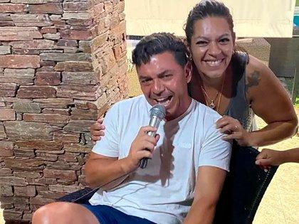Marcelo Gallardo se animó al canto en el cumpleaños de su hermana