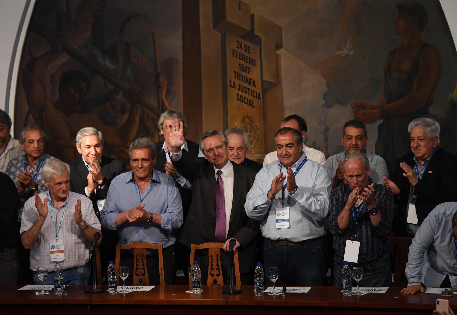 La primera y última visita de Alberto Fernández a la CGT se produjo el 19 de noviembre pasado