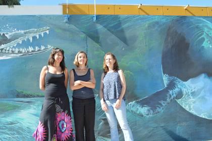 (De izq. a der.): Ana Liberoff, Silvia Flaherty, Natalia Pessacg (crédito:  Alejandro Canizzaro del CENPAT)