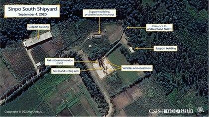 Movimientos registrados en el astillero de Sinpo (Reuters/CSIS)
