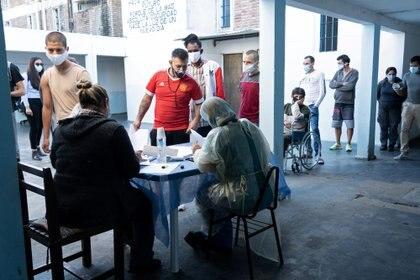 Foto de la campaña de vacunación en Uruguay. Reuters