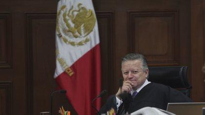El ministro presidente de la SCJN, Arturo Zaldívar, dio a conocer que por primera vez habrá acciones de inconstitucionalidad y controversias constitucionales en línea (Foto: Cuartoscuro)
