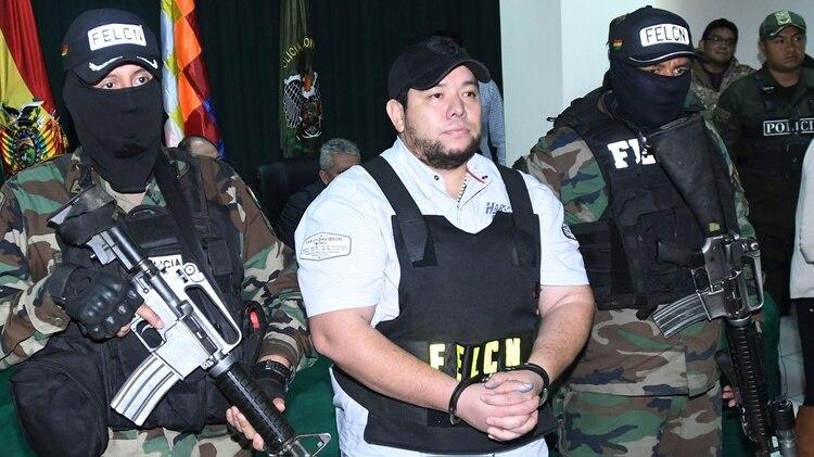 Pedro Montenegro Paz, tras su arresto el sábado pasado