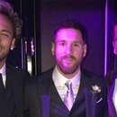 Neymar, Messi y Dani Alves