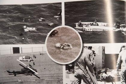 Las primeras imágenes posteriores al accidente. Scioli, flotando en el agua, y luego cuando fue cargado a la proa de otra lancha, gracias a la solidaridad de otros corredores