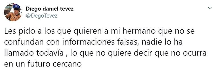 El tuit del hermano de Carlos Tevez sobre el futuro del futbolista en Boca