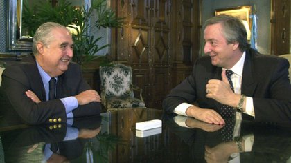 Esteban Righi junto a Néstor Kirchner