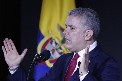 En la imagen el presidente de Colombia, Iván Duque. EFE/Mauricio Dueñas Castañeda/Archivo