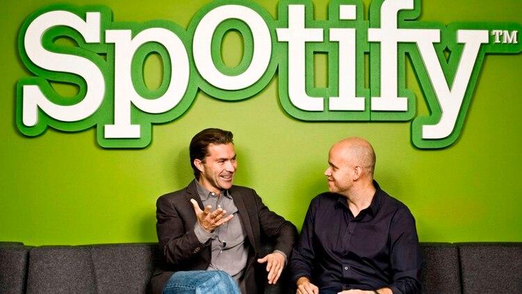 Martin Lorentzon y Daniel Ek, cofundadores de Spotify.