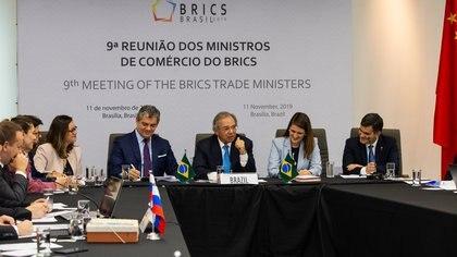 Reunión ministros de Comercio de los BRICS (Foto: Ministerio de Economía de Brasil)