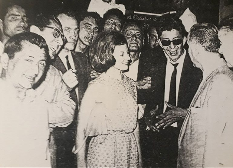 Isabel en el Sindicato del Azúcar en Tucumán en 1966