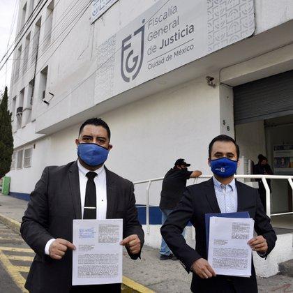 The PAN criminally denounced Sheinbaum and Serranía last week for the fire of the CDMX Metro (Photo: Courtesy PAN CDMX)