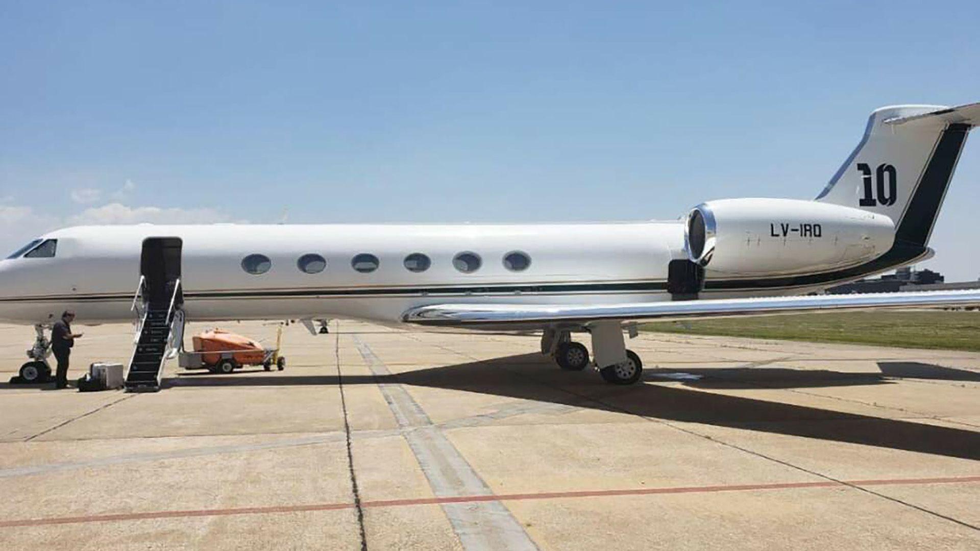 Messi puso su avión Gulftream V, patente LV-IRQ, a disposición para el traslado de algunos de sus compañeros de Selección