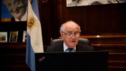 Oscar Parrilli sesionó desde su despacho