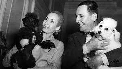 Perón y Eva tenían sus propias mascotas